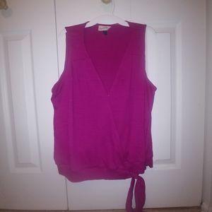 Sleeveless blouse, hot pink